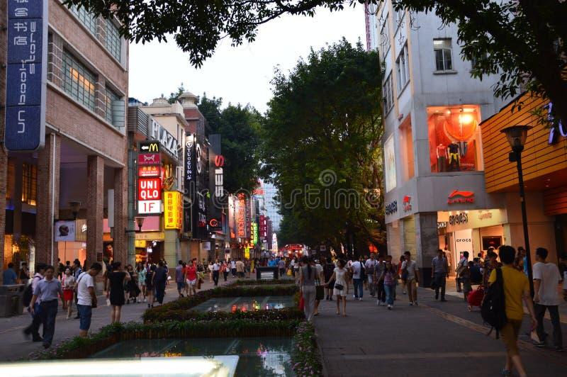 Einkaufsszene in China lizenzfreies stockbild