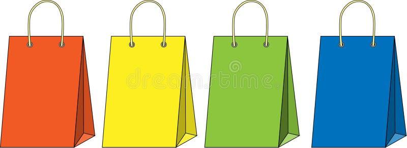 Einkaufstasche eingestellt stock abbildung
