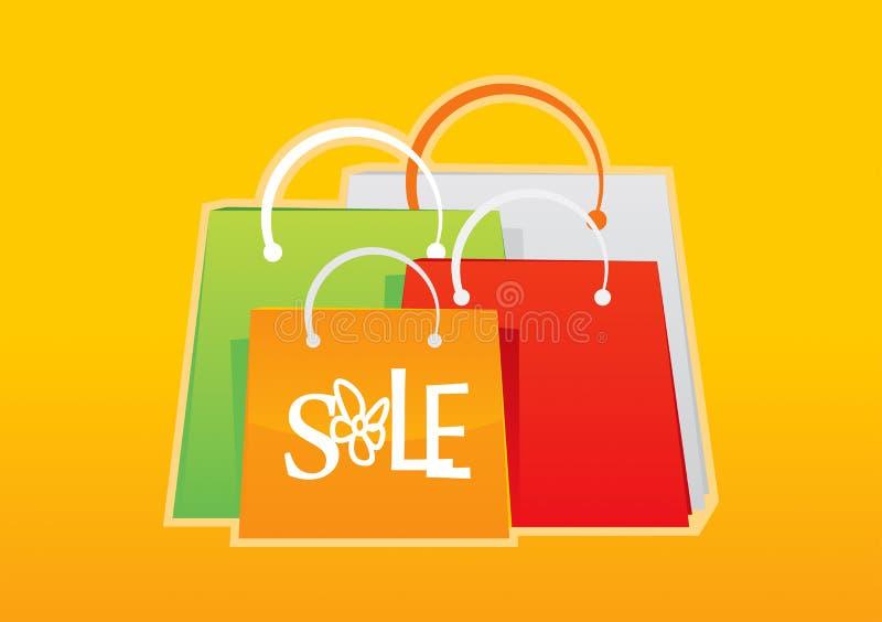 Einkaufstasche stellte 4 ein lizenzfreie abbildung