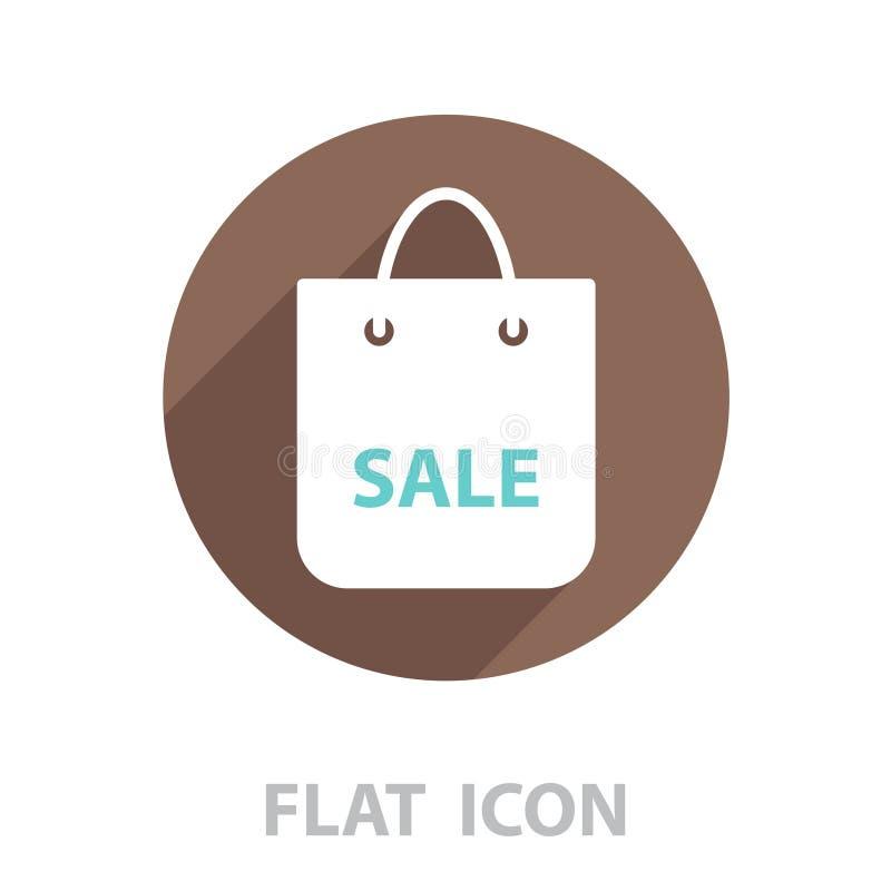 Einkaufstasche - Vektorikone lizenzfreie abbildung