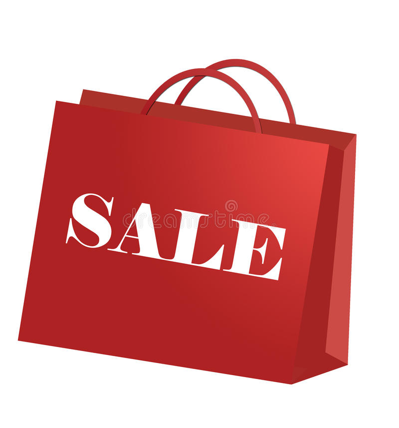 Einkaufstasche während jeder Einkaufenjahreszeit stock abbildung