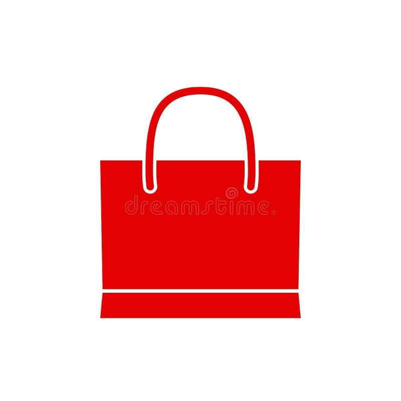 Einkaufstascheikone - Vektor vektor abbildung