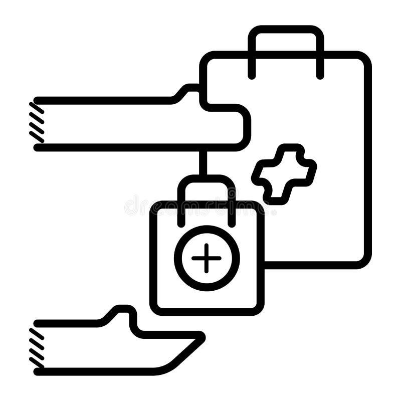 Einkaufstascheikonen-Vektorillustration lizenzfreie abbildung
