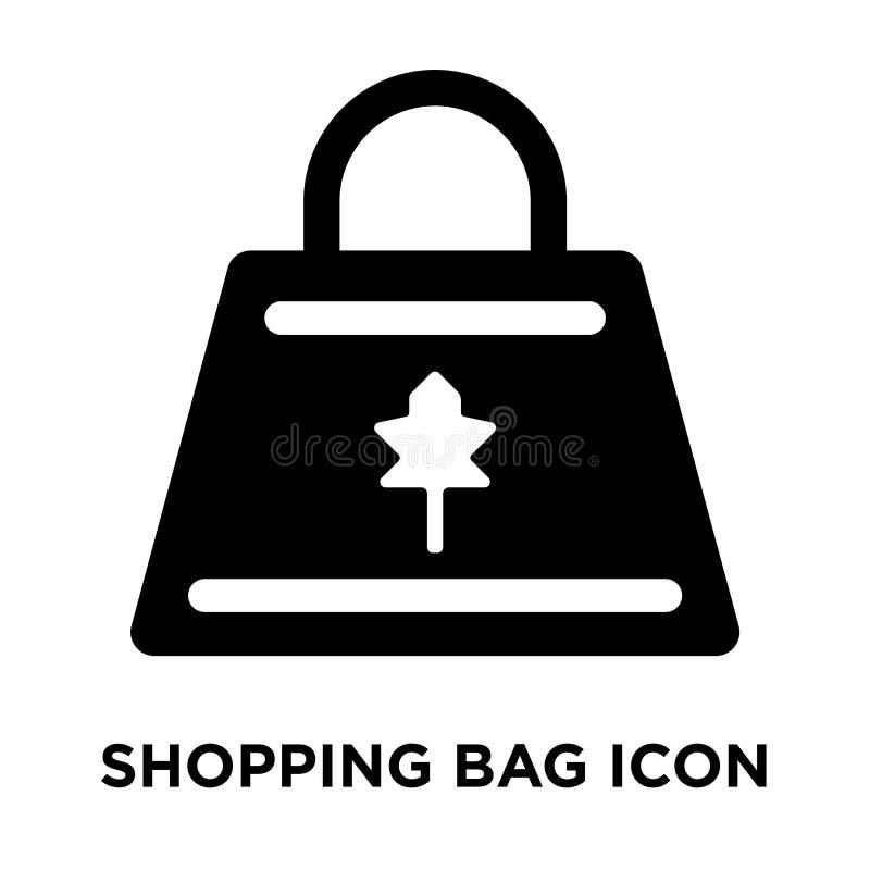 Einkaufstascheikonenvektor lokalisiert auf weißem Hintergrund, Logo conc lizenzfreie abbildung