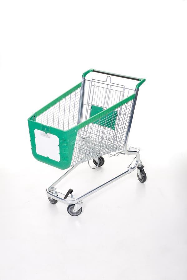 Einkaufswagen auf Weiß lizenzfreie stockbilder
