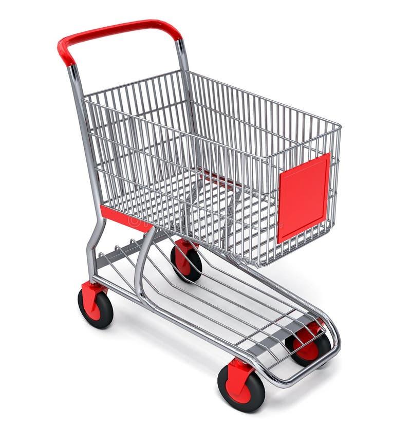 Einkaufswagen mit vektorausschnittspfad