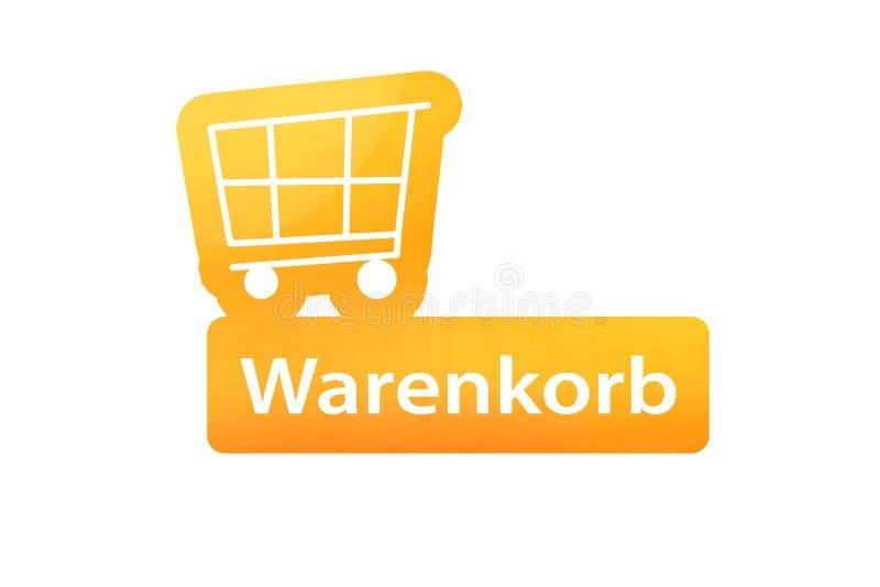 Einkaufswagen Warenkorb stockbild