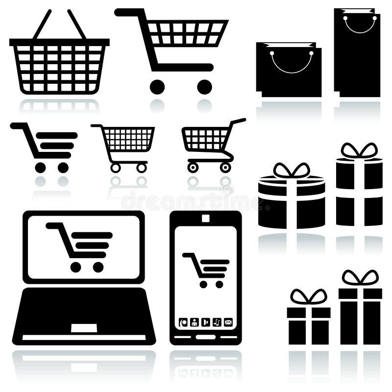 Einkaufswagen-Zeichen vektor abbildung