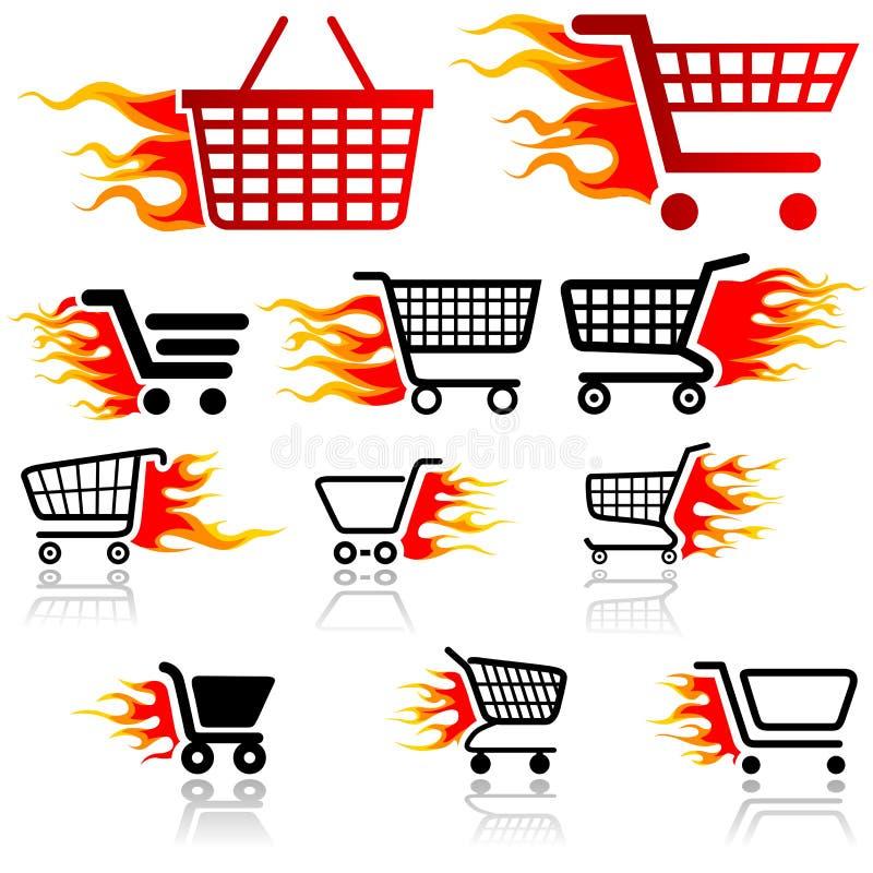 Einkaufswagen-Zeichen stock abbildung