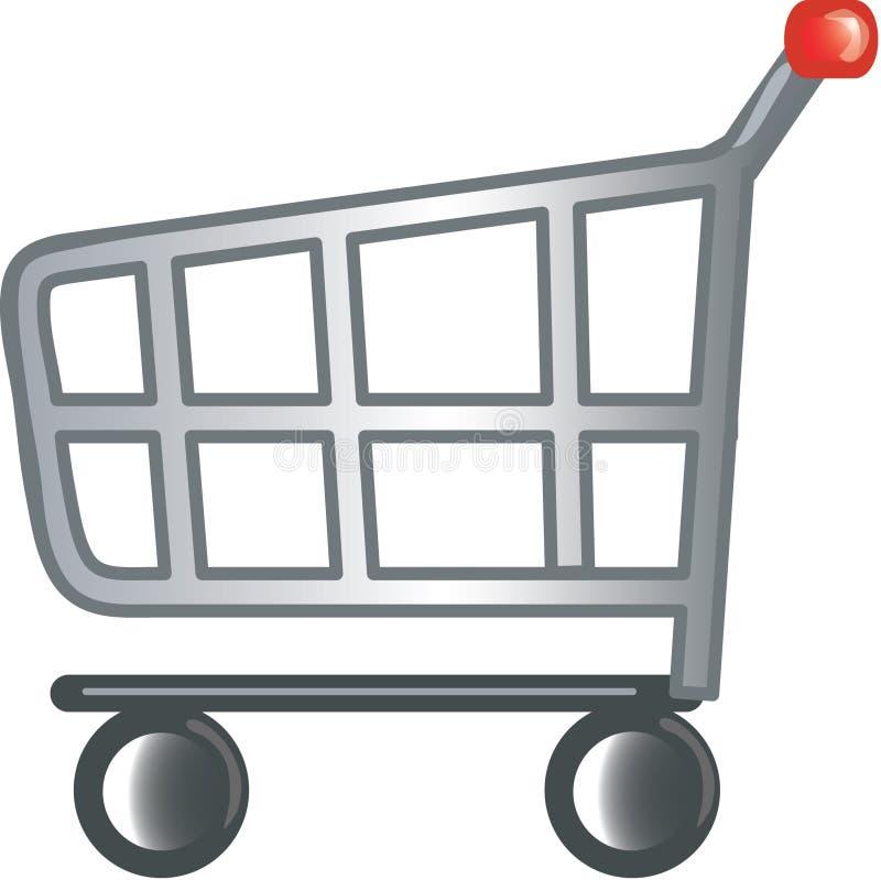 Einkaufswagenikone stock abbildung