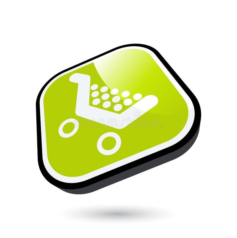 Einkaufswagenikone vektor abbildung