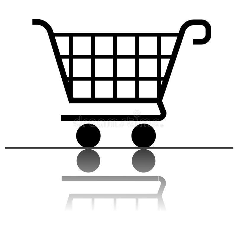 Einkaufswagenikone für Auslegung vektor abbildung