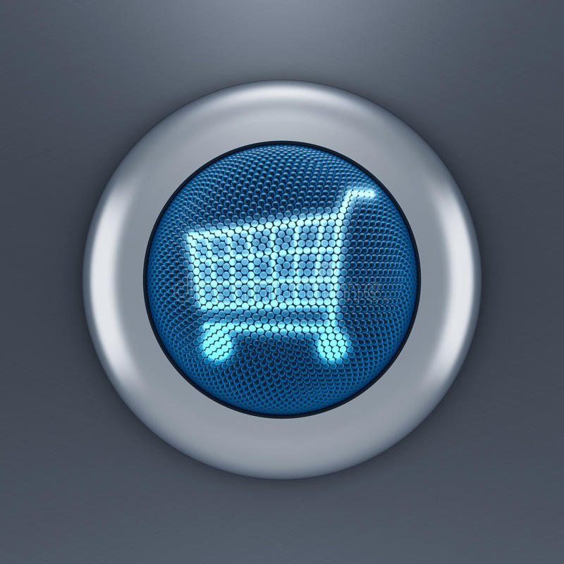 Einkaufswagentaste stock abbildung