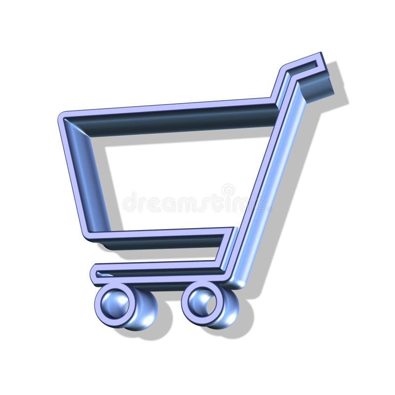 Einkaufswagentaste vektor abbildung