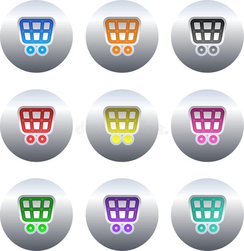 Einkaufswagentasten lizenzfreie abbildung