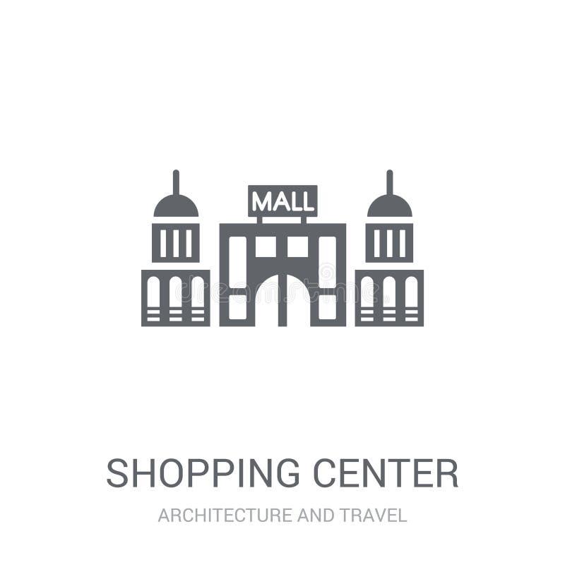 Einkaufszentrenikone Modisches Einkaufszentrenlogokonzept auf whi vektor abbildung