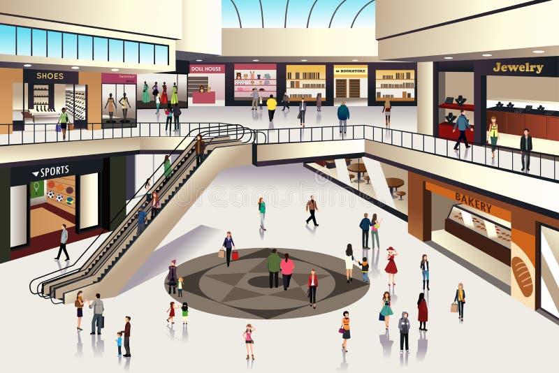 Einkaufszentrum lizenzfreie abbildung