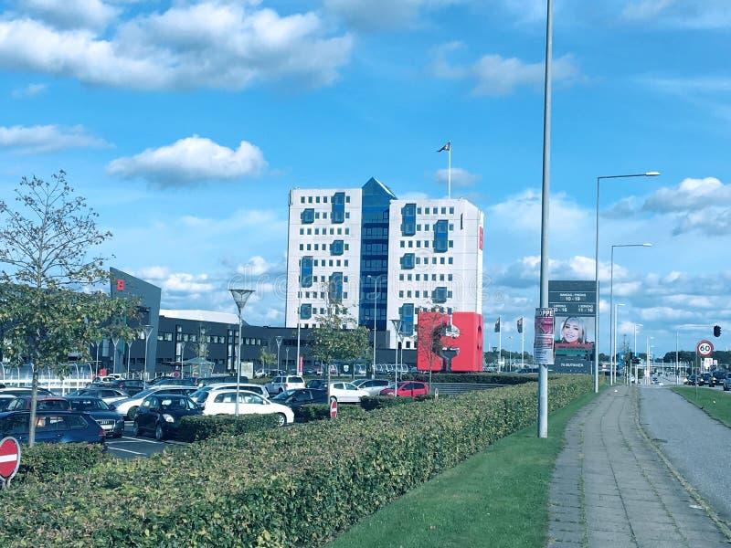 Einkaufszentrum im Herning, Dänemark lizenzfreies stockbild