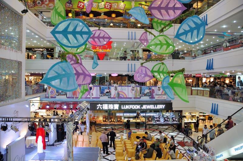 Einkaufszentruminnenraum, Zhuhai-Porzellan stockfotos