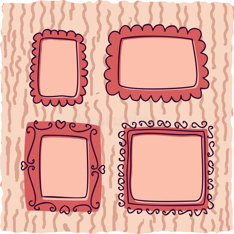 Einklebebuchweinleserahmen für Mädchen lizenzfreie abbildung