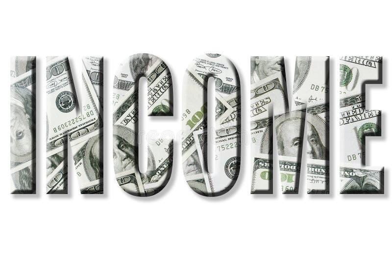 Einkommen lizenzfreie abbildung