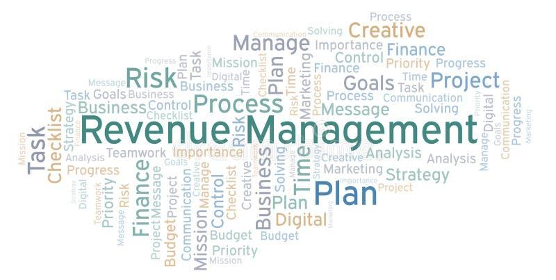 Einkommens-Managementwortwolke, gemacht mit nur Text lizenzfreie abbildung