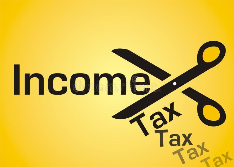 Einkommens-Steuersenkung lizenzfreie abbildung
