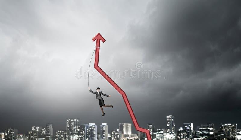 Einkommenswachstumsmotivation lizenzfreie stockfotografie