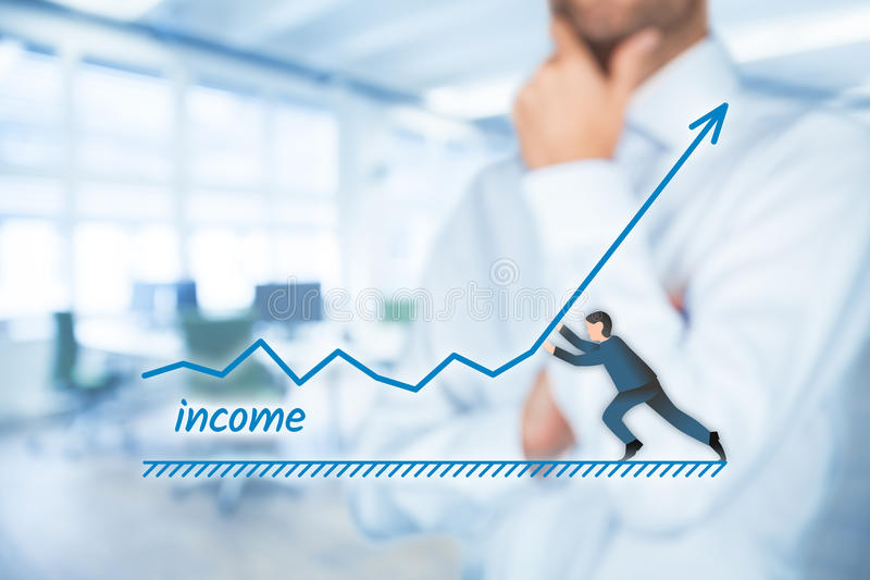 Einkommenszunahme stockfoto