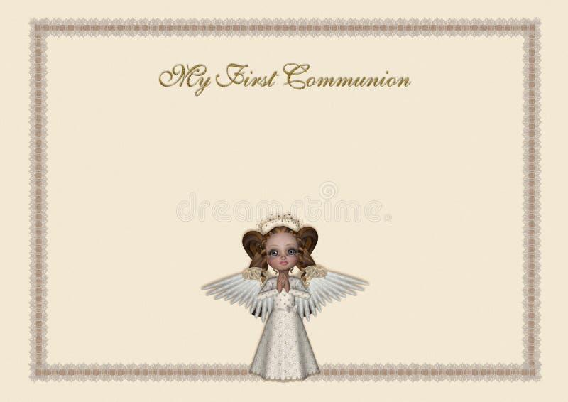 Einladung der heiligen Kommunion lizenzfreies stockbild
