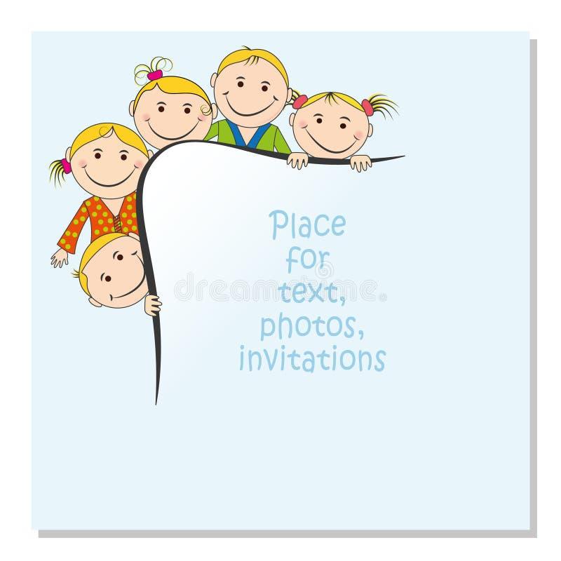 Einladung Für Eine Kind-` S Partei Sie Können Es Als Fotorahmen, Ein ...