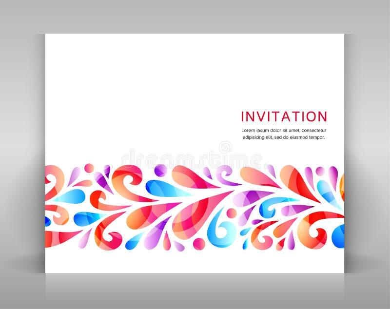 Einladung mit Florenelementen stock abbildung