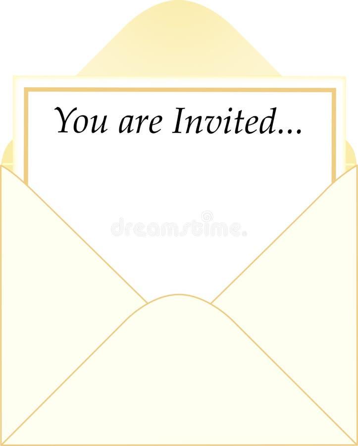 Einladungs-Umschlag lizenzfreie abbildung