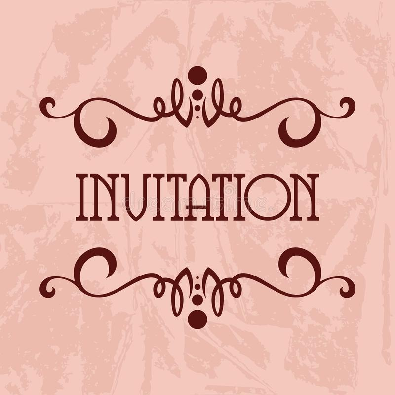 Einladungs-Vektor-Schablone stock abbildung