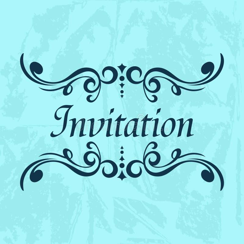 Einladungs-Vektor-Schablone lizenzfreie abbildung