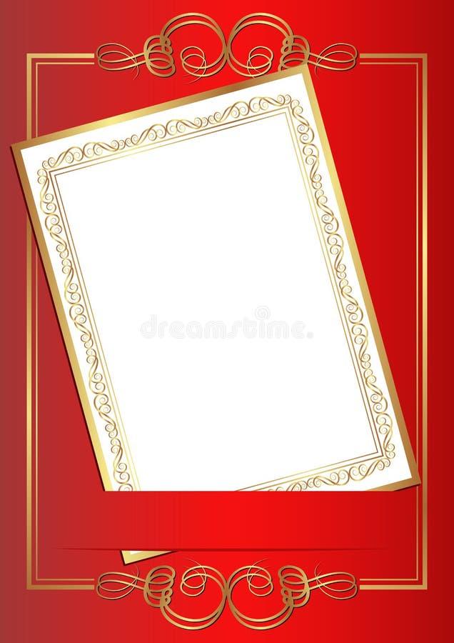 Einladungskarte Stockfotografie