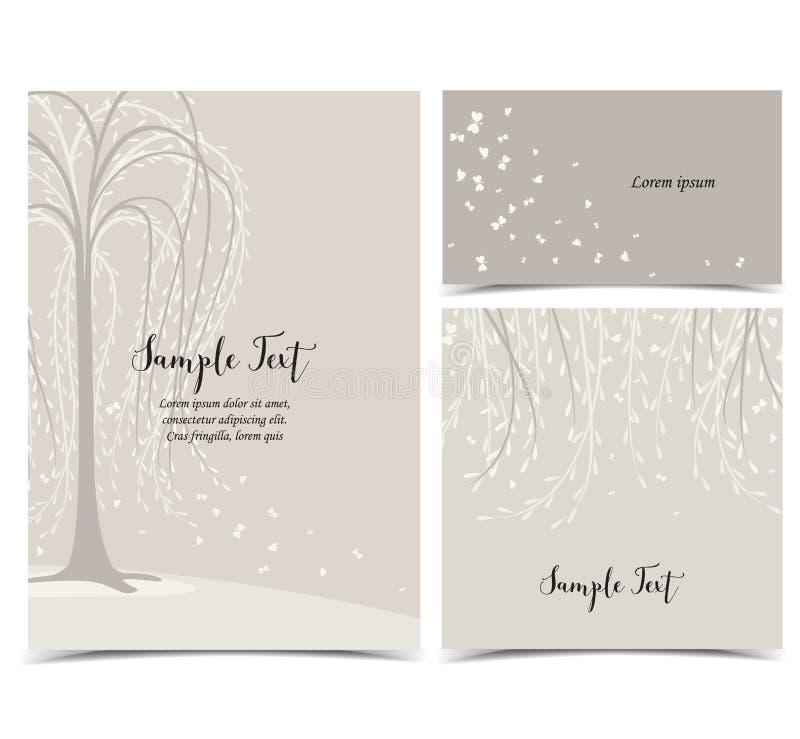 Einladungskarte mit Baum lizenzfreie abbildung