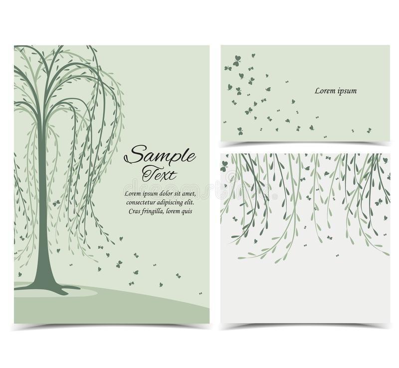 Einladungskarte mit Baum vektor abbildung