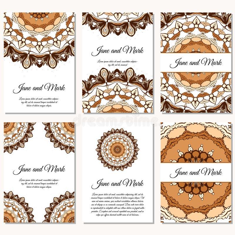 Download Einladungskarten Auf Hochzeit Hintergrund Mit Verzierung Vektor IL  Vektor Abbildung   Illustration Von Karte,