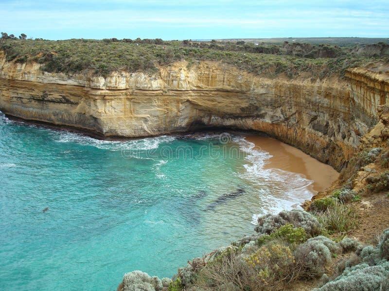 Einlass auf der Küste von Australien stockfotografie