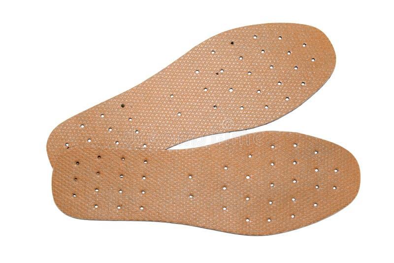 Einlegesohlen für einen Schuh lizenzfreie stockfotografie