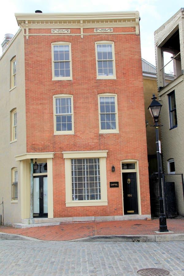 Eins der schönen Häuser, in denen Filme gefilmt wurden, fällt Punkt, Maryland, 2015 lizenzfreies stockfoto