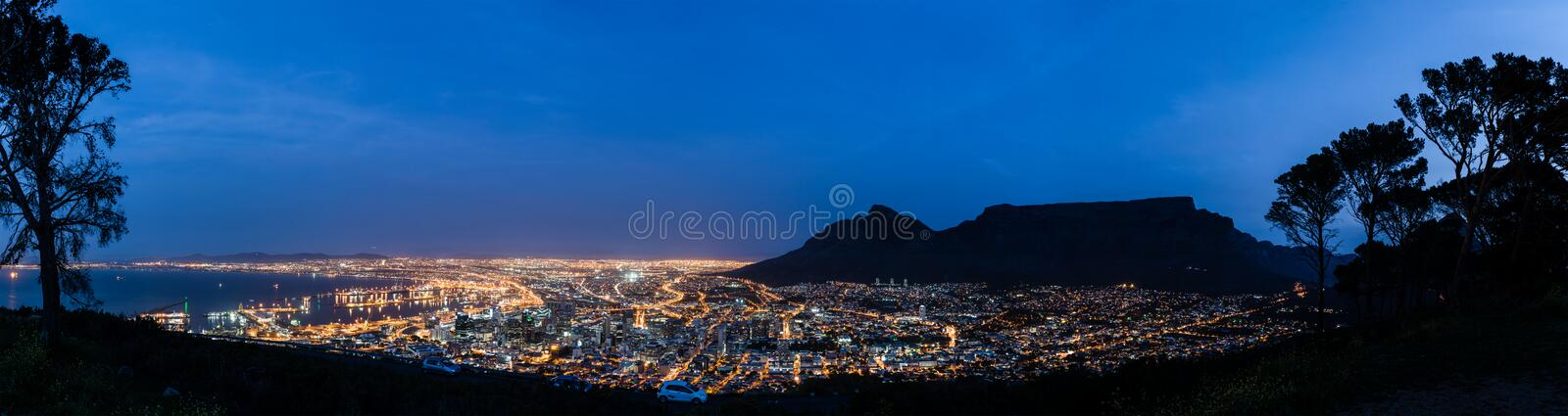Einsam in Cape Town stockbild