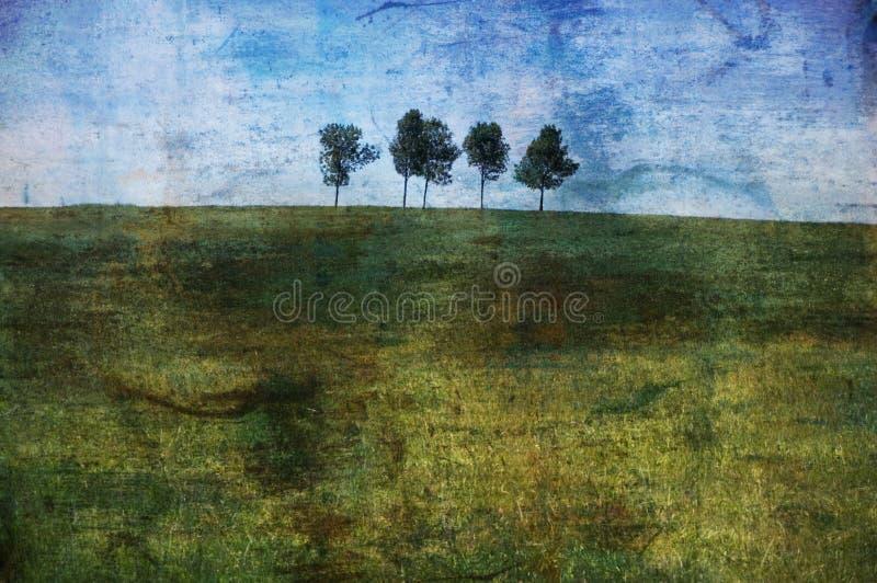 Einsame Bäume lizenzfreie stockfotografie