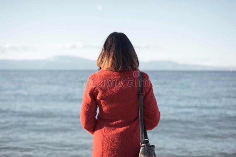 Einsame Frau stockbild