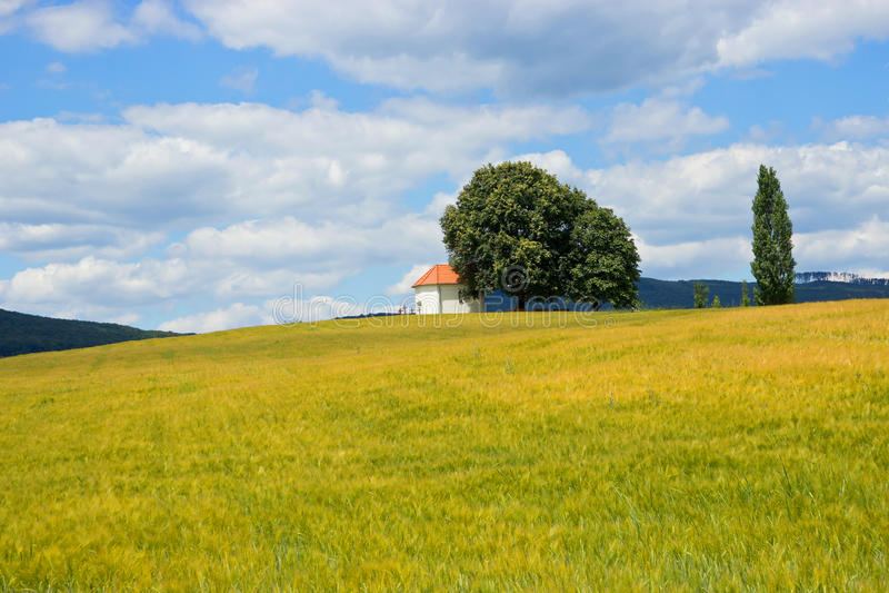 Einsame Kapelle stockfotografie