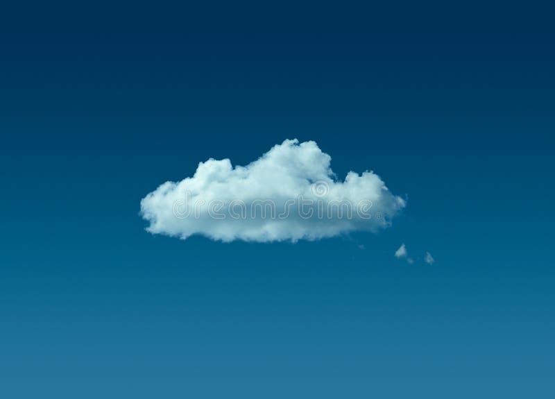 Einsame Wolke im blauen Himmel lizenzfreie stockfotos