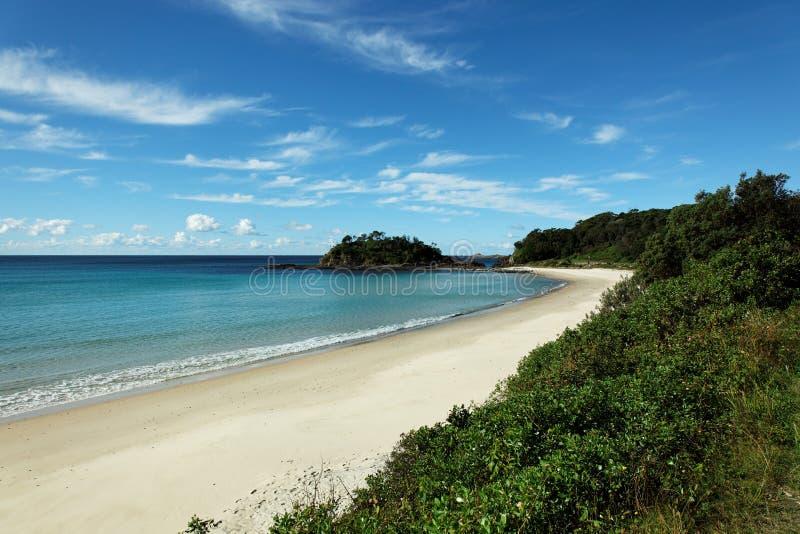 Einsamer Strand, Australien stockbild