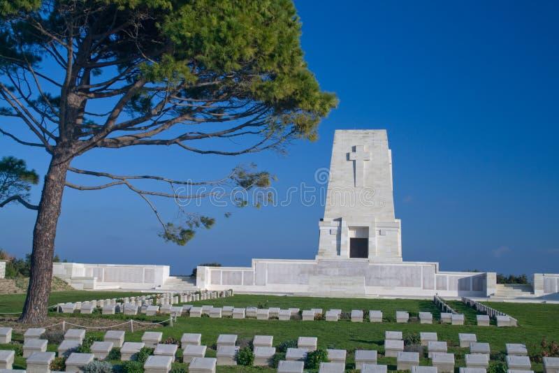 Einsames Kiefer-Denkmal die Türkei stockbilder