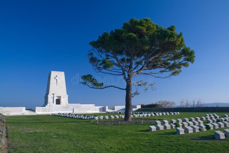 Einsames Kiefer-Denkmal die Türkei stockbild